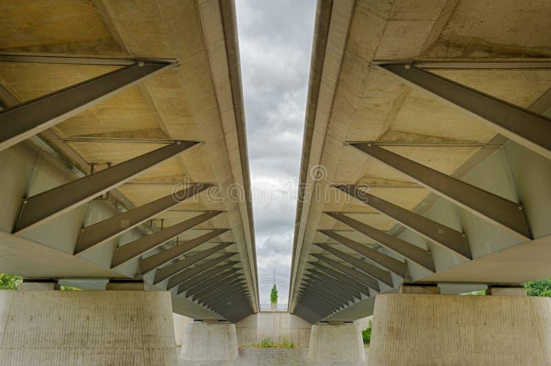 De moderne structuur van de straalbrug stock foto