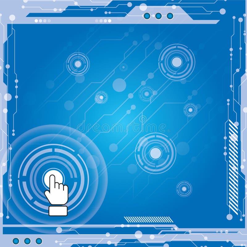 De moderne technologie van de interface royalty-vrije illustratie