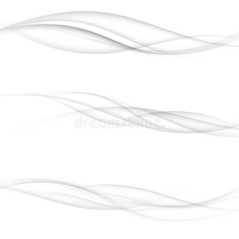 De moderne transparante halftone modernistic lijnen van de swooshsnelheid colle stock illustratie