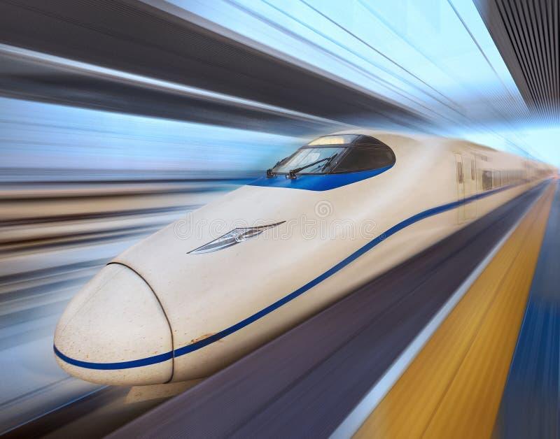 De moderne Trein van de Hoge snelheid stock foto