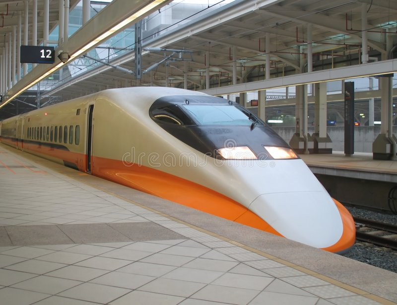 De moderne Trein van de Hoge snelheid stock afbeelding