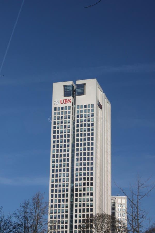 De moderne UBS-Bouw stock fotografie