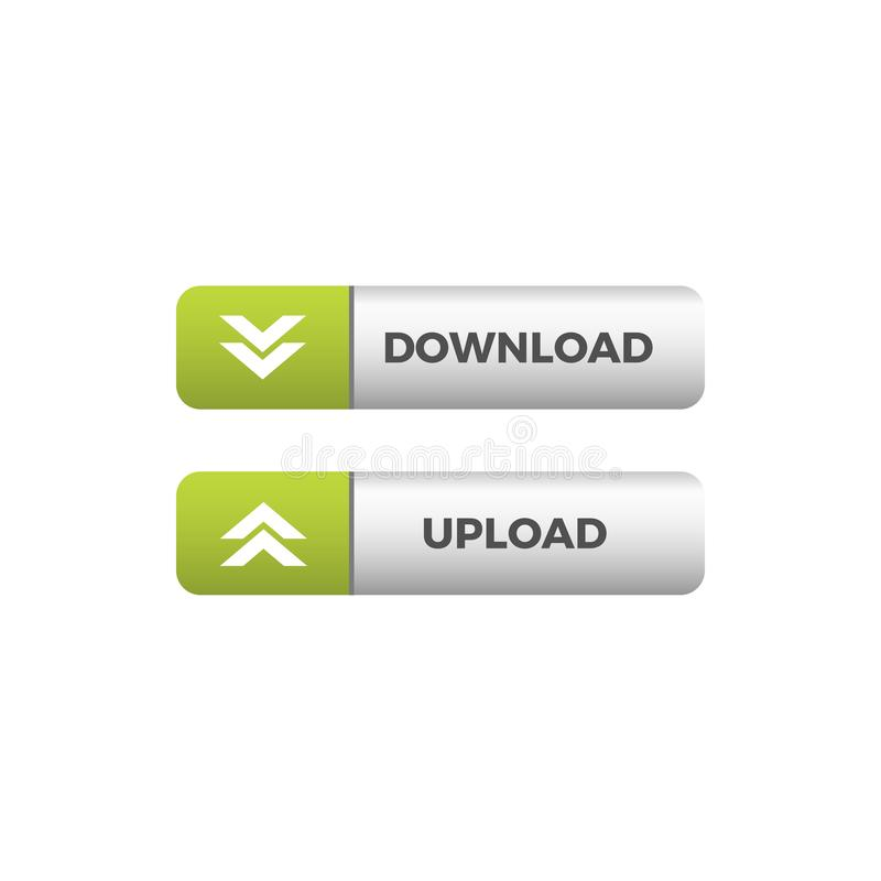 De moderne Unieke Download uploadt Knooppictogram stock illustratie
