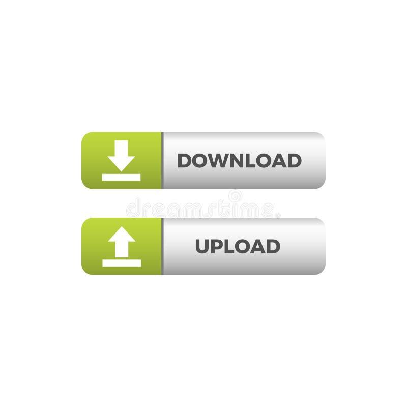 De moderne Unieke Download uploadt Knooppictogram vector illustratie