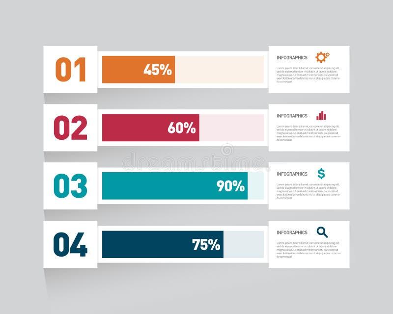De moderne van het informatie-grafiek illustratie ontwerpelement stock illustratie