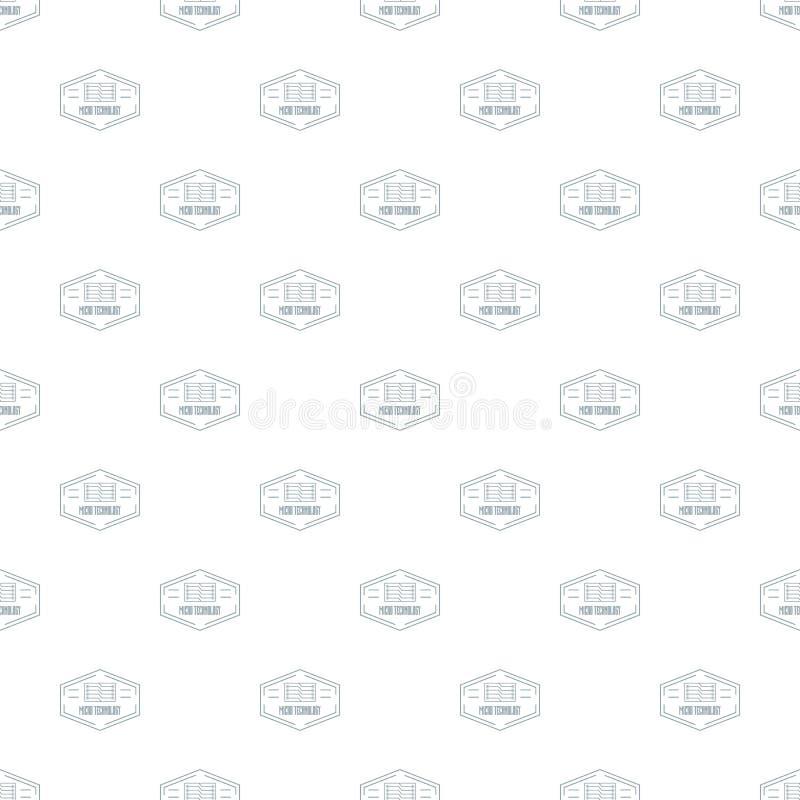 Download De Moderne Van Het Micro- Naadloze Vector Technologiepatroon Vector Illustratie - Illustratie bestaande uit kring, illustratie: 114225970
