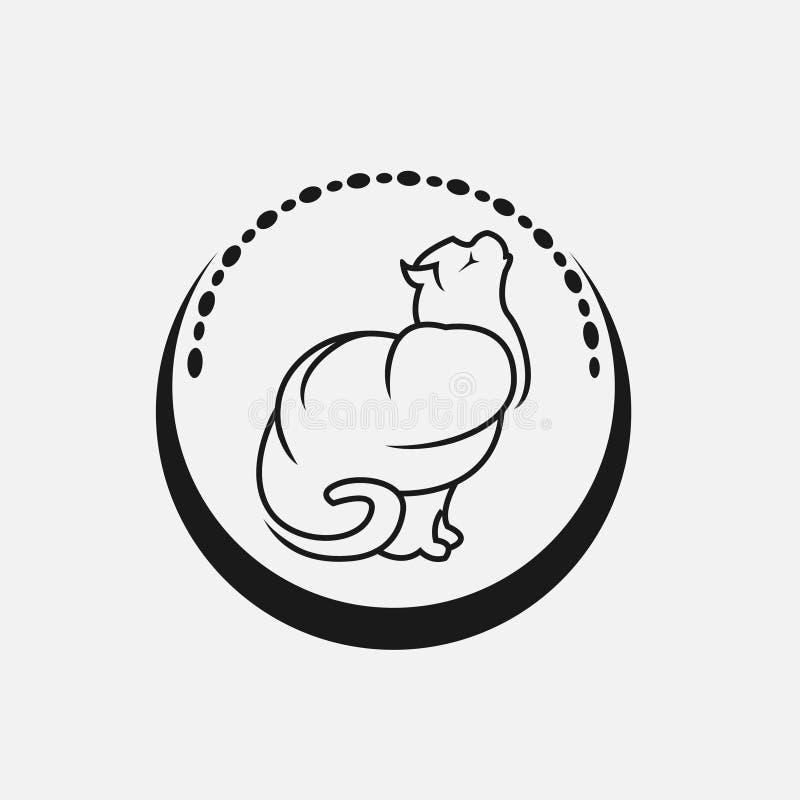 De moderne vector eenvoudige illustratie van het kattenembleem vector illustratie