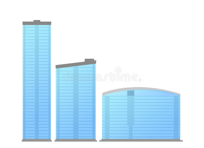 De moderne vector van bureaugebouwen vector illustratie