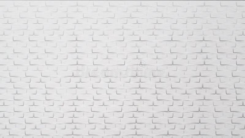 De moderne Witte Bakstenen muur Vector van het de Bouwelement vector illustratie