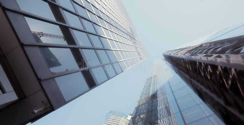 Moderne kantoorgebouwen wolkenkrabber in Londen stock afbeelding