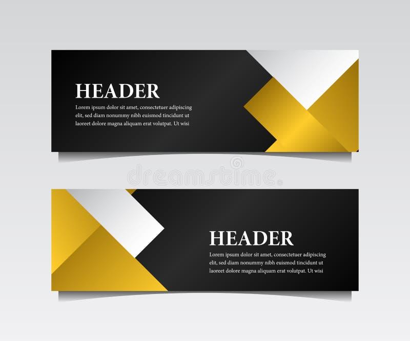 De moderne zaken van de luxekopbal met geometrische gouden vorm stock illustratie