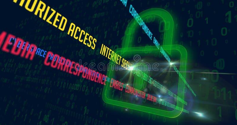 De modewoorden van de Cyberveiligheid royalty-vrije illustratie