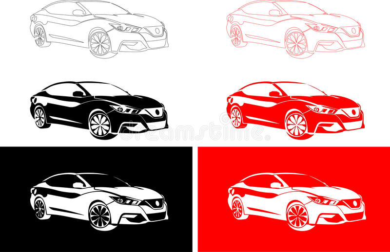 De modieuze auto van Japan royalty-vrije stock afbeeldingen