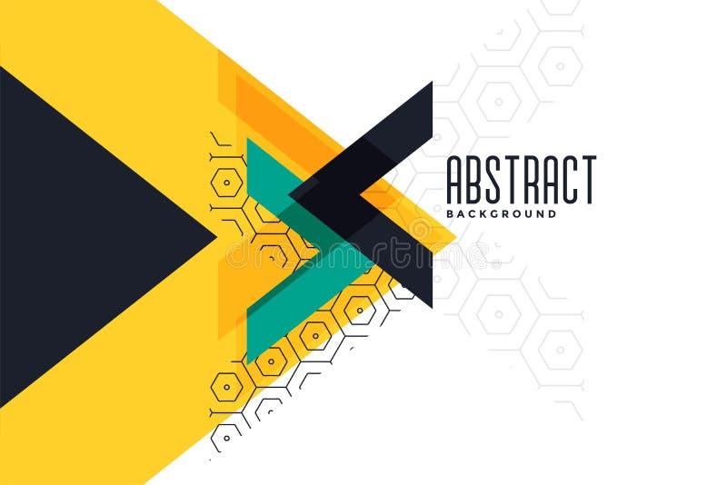 De modieuze gele abstracte banner van de themadriehoek vector illustratie