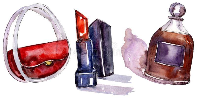De modieuze illustratie van de schetsglamour in een waterverfstijl ge?soleerd element Watercolour achtergrondreeks royalty-vrije stock foto