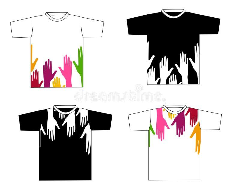 De modieuze vector van het t-shirtontwerp stock illustratie