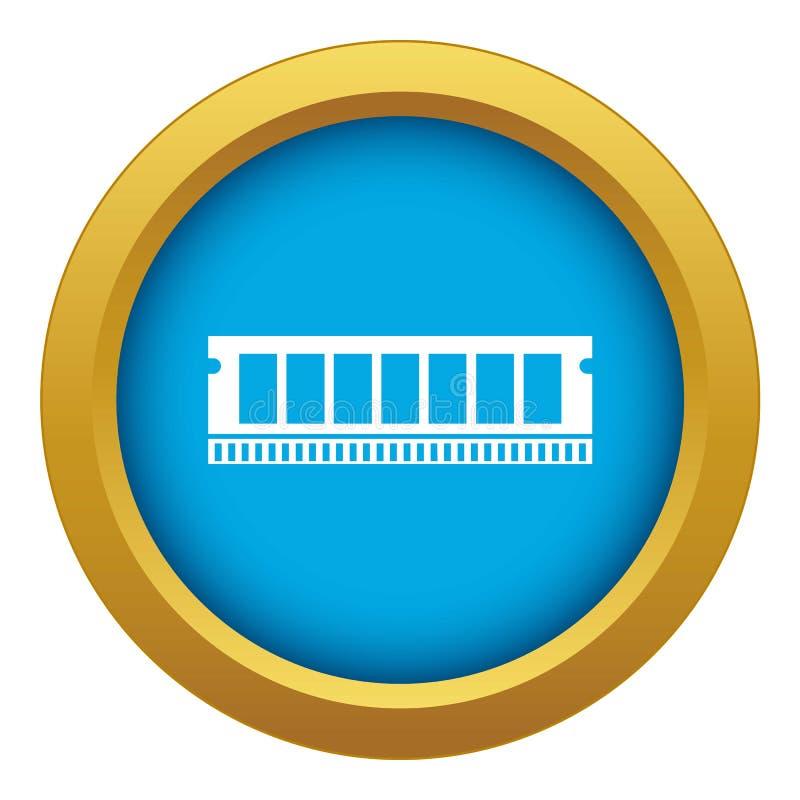 De module van DVD RAM voor de blauwe geïsoleerde vector van het personal computerpictogram vector illustratie