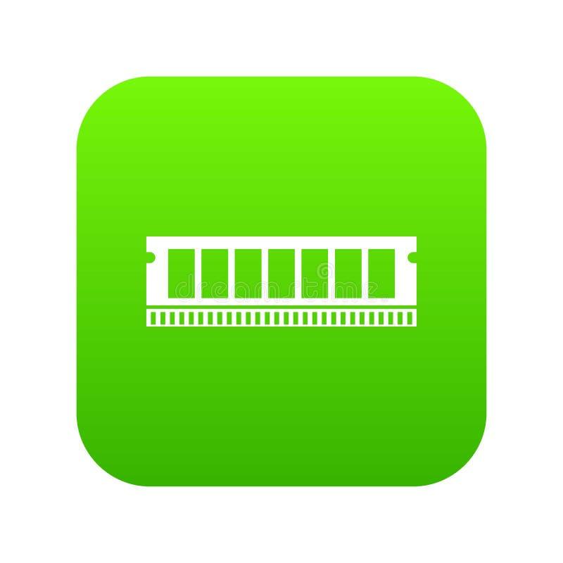 De module van DVD RAM voor digitale groen van het personal computerpictogram stock illustratie