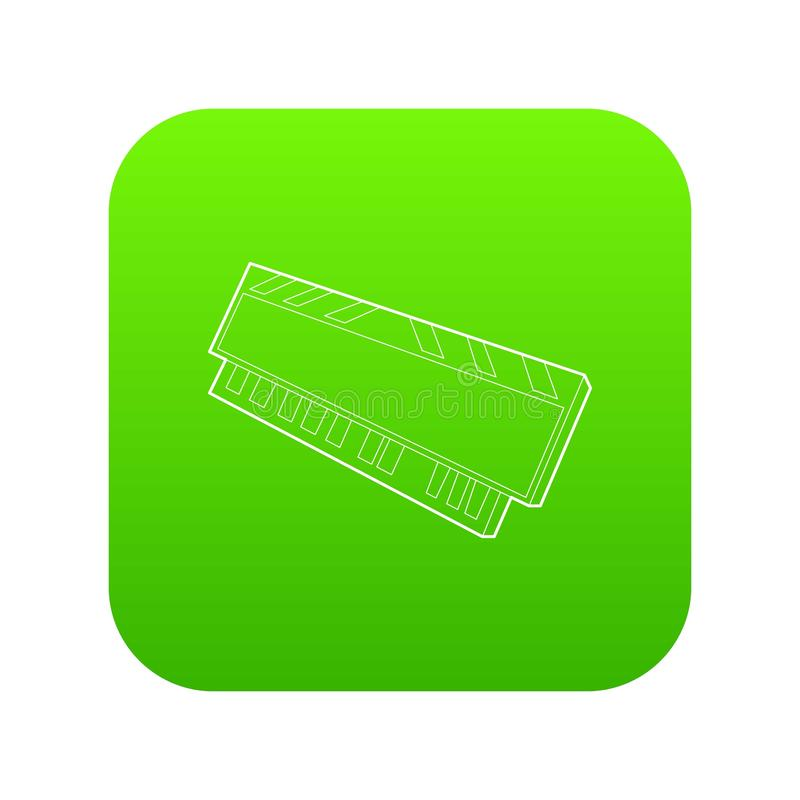 De module van DVD RAM voor de groene vector van het personal computerpictogram stock illustratie