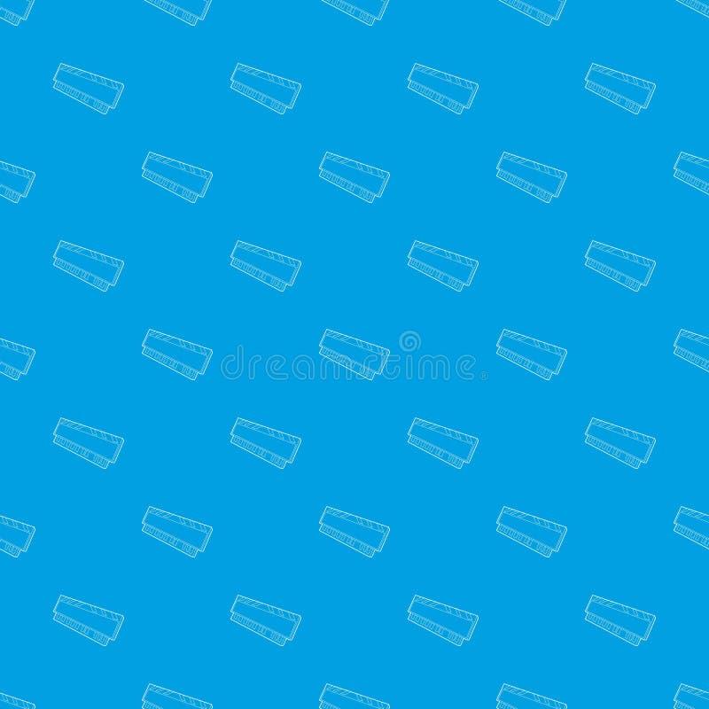 De module van DVD RAM voor het vector naadloze blauw van het personal computerpatroon stock illustratie