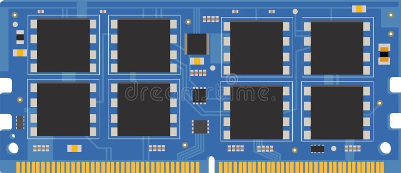 De module van het personal computergeheugen ram vector illustratie