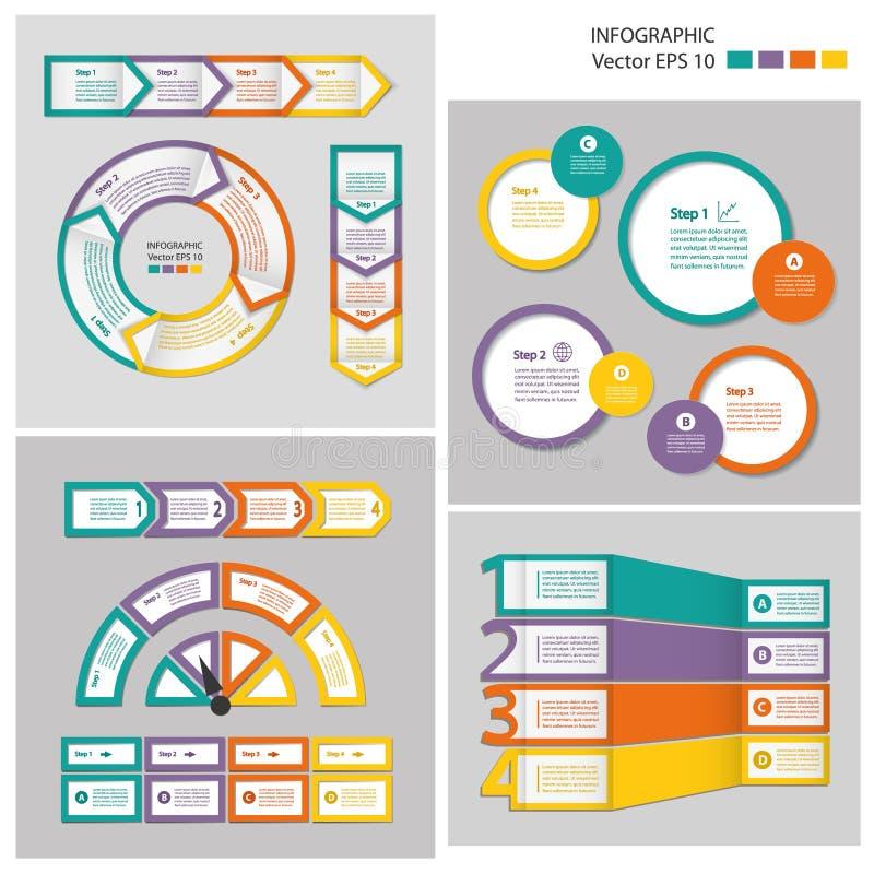 De module van de procesgrafiek De Reeks van Infographic vector illustratie