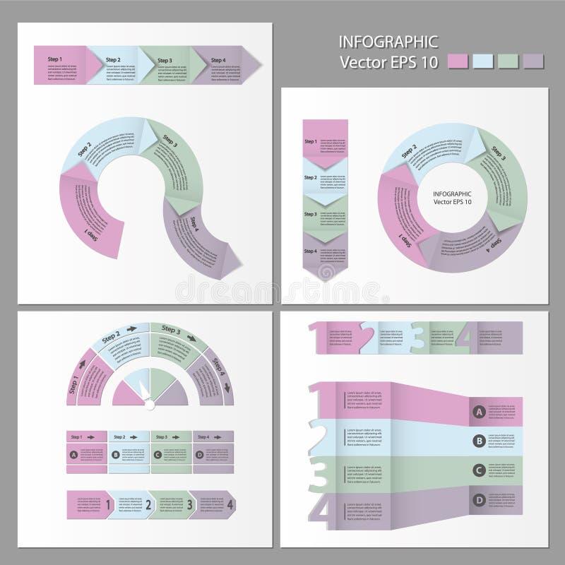 De module van de procesgrafiek De Reeks van Infographic royalty-vrije illustratie