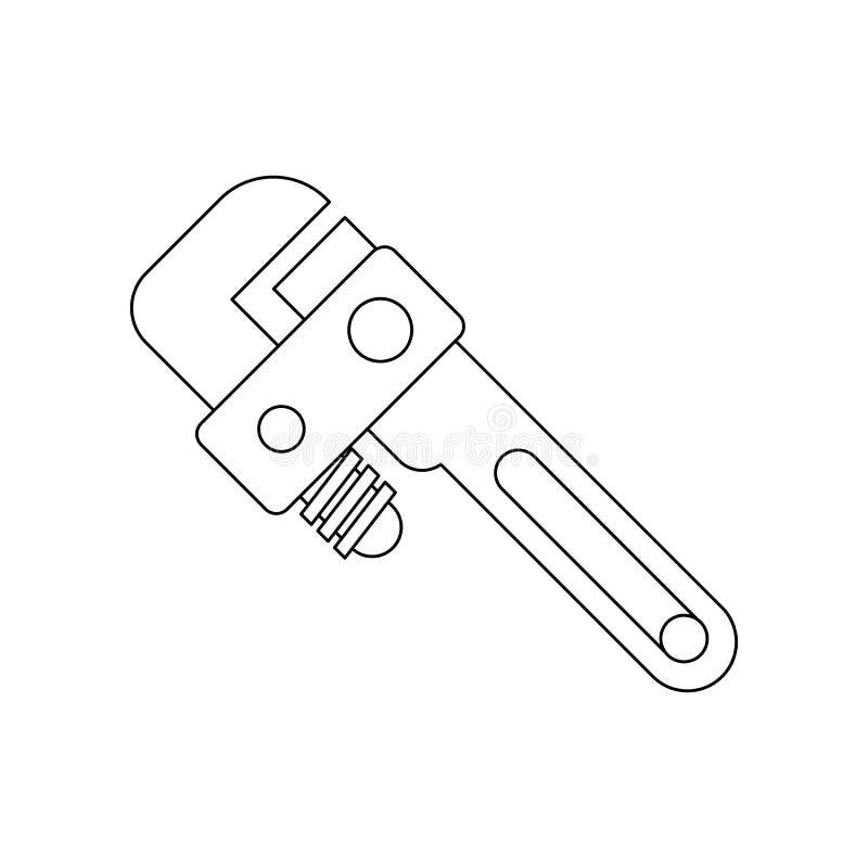 de moersleutelpictogram van het kleurengas Element van bouwhulpmiddelen voor mobiel concept en webtoepassingenpictogram Overzicht royalty-vrije illustratie