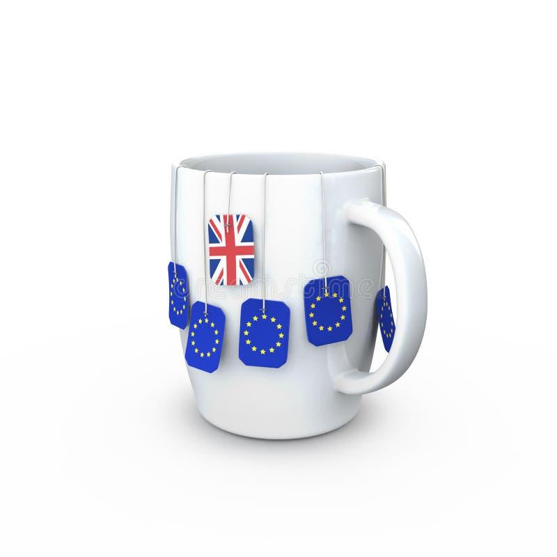 De mok van de Brexitthee stock illustratie