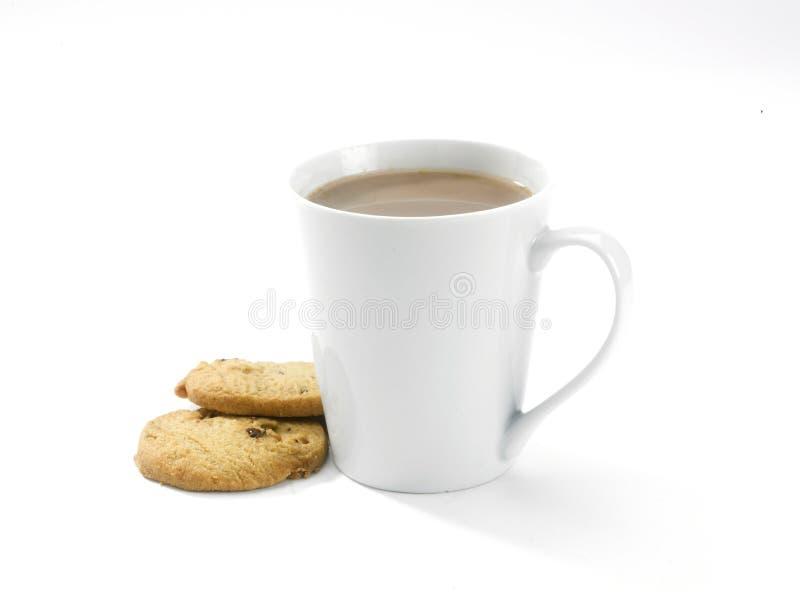 De mok van de koffie en buscuits stock fotografie