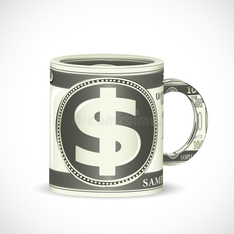De Mok van de Koffie van de dollar vector illustratie
