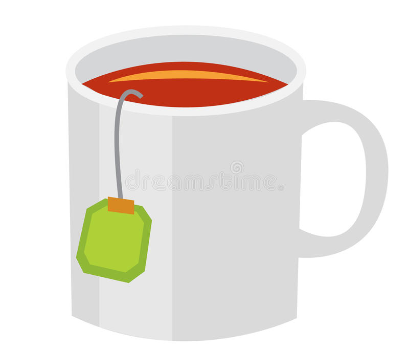 De mok van de thee stock afbeeldingen