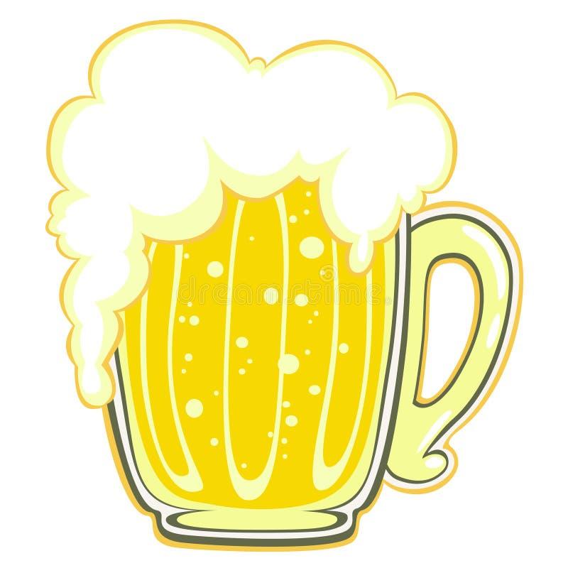 De mok van het bier stock illustratie