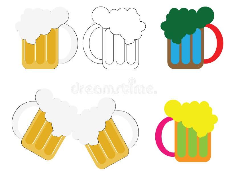 De mok van het bier royalty-vrije illustratie