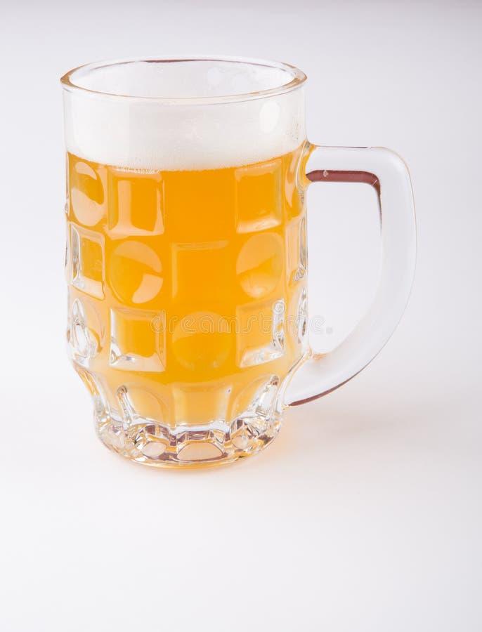 De mok van het bierglas stock foto's