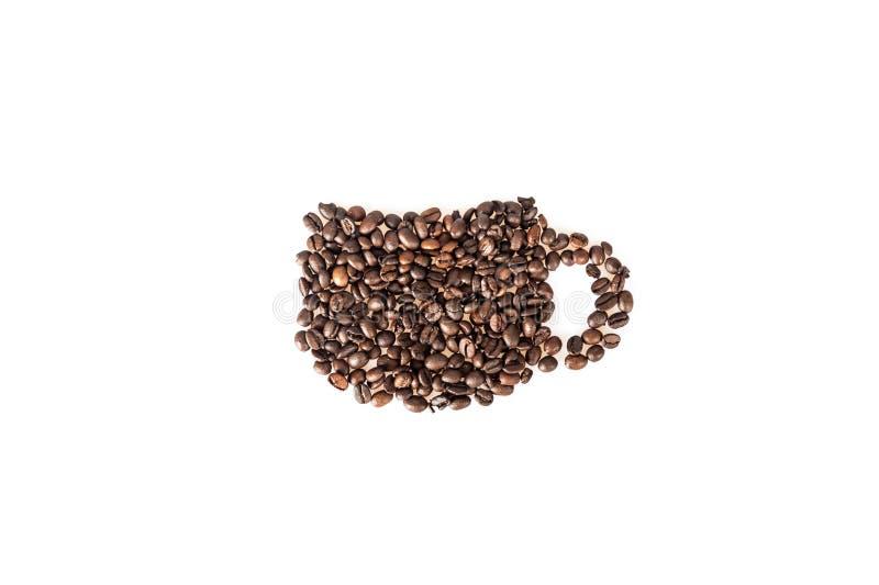 De mokkop van koffiebonen van koffie royalty-vrije stock foto's