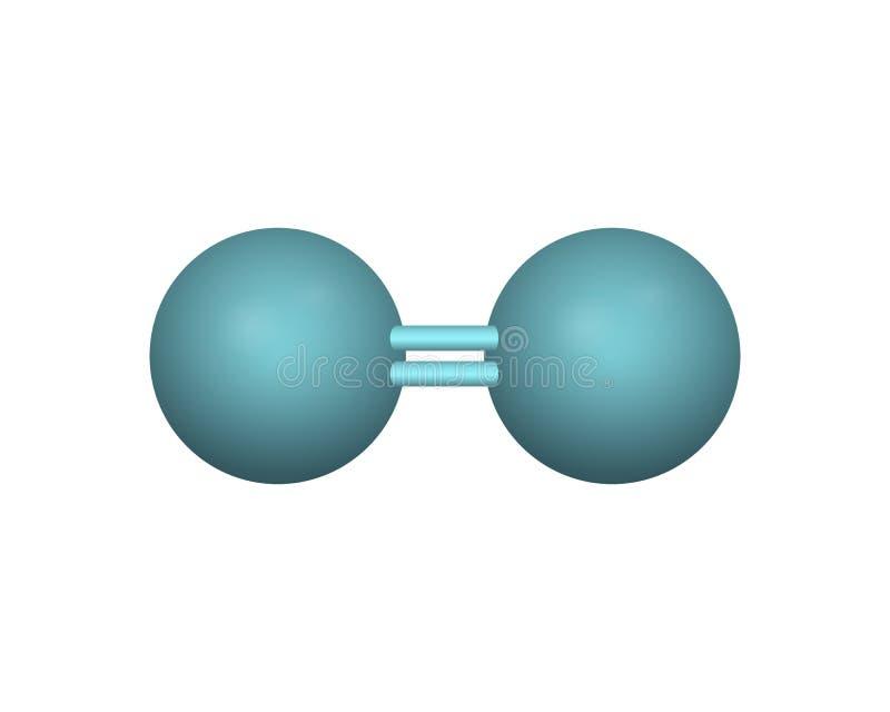 De moleculaire formule van zuurstof stock illustratie