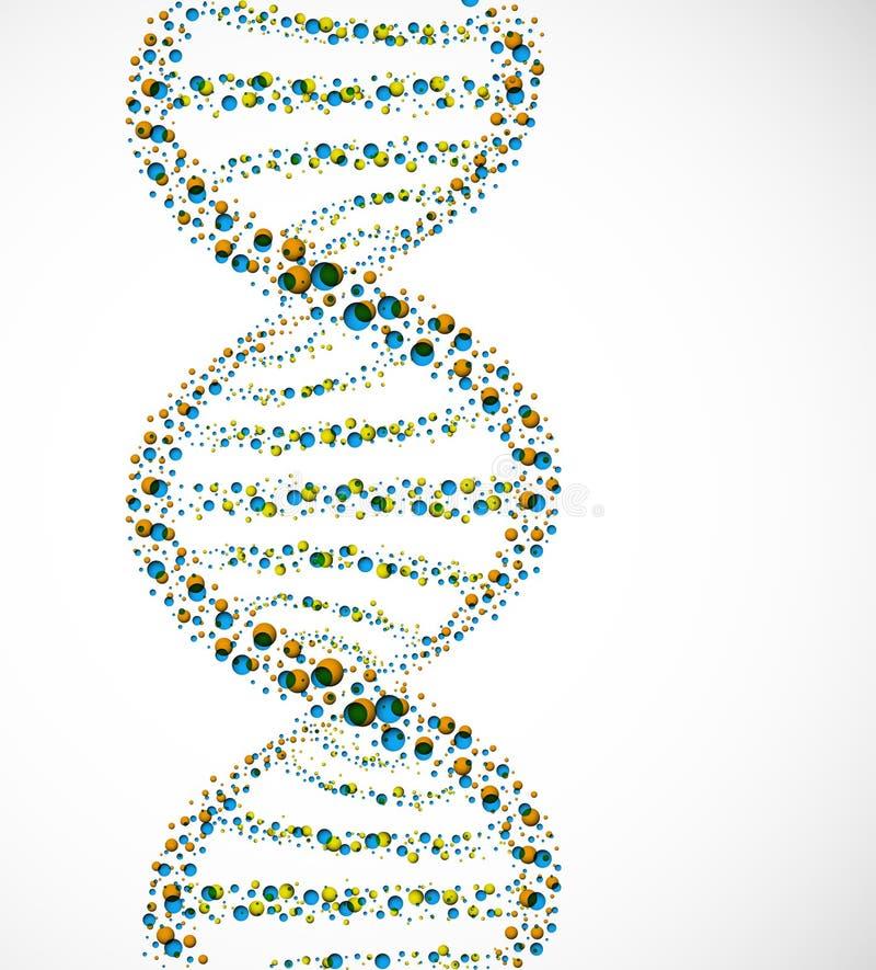 De molecule van DNA vector illustratie