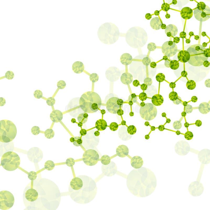 De molecule van DNA, abstracte achtergrond stock illustratie
