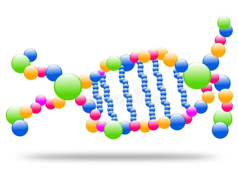 De molecule van DNA van het tekeningsembleem, chromosoom royalty-vrije illustratie