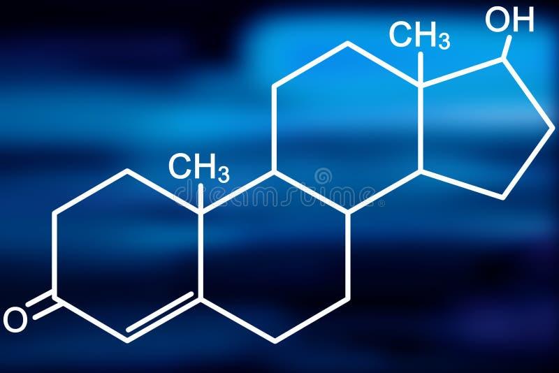 De molecule van het testosteron royalty-vrije illustratie