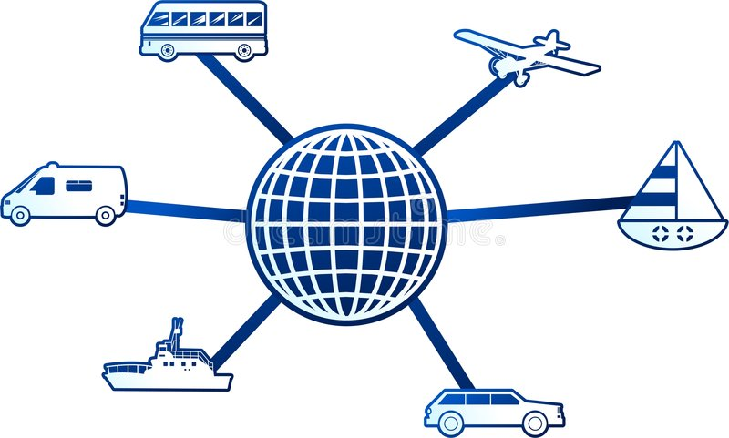 De molecule van het vervoer stock illustratie