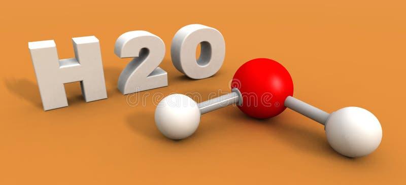 De molecule van het water stock illustratie