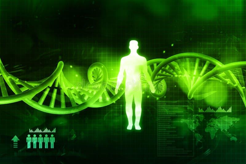 De molecules en de mensen van DNA stock illustratie
