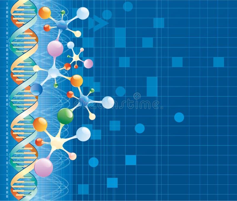 De molecules van de kleur royalty-vrije illustratie