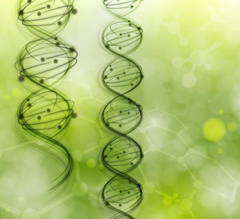 De molecules van DNA stock illustratie