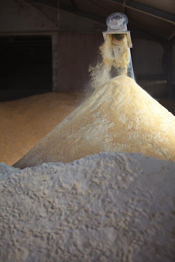 De Molen en de avegaar van het graan royalty-vrije stock fotografie