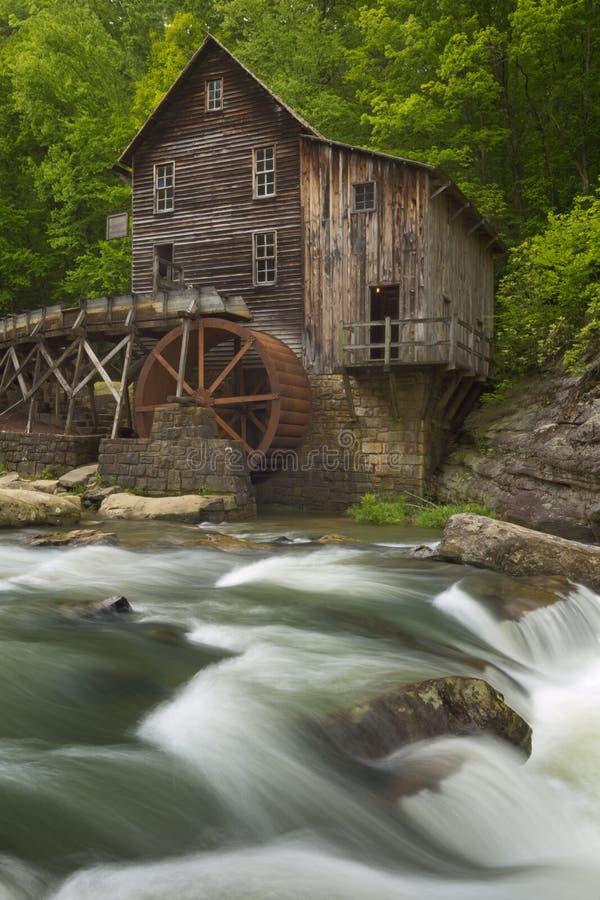 De Molen van het de Kreekmaalkoren van de open plek in West-Virginia, de V.S. royalty-vrije stock afbeelding
