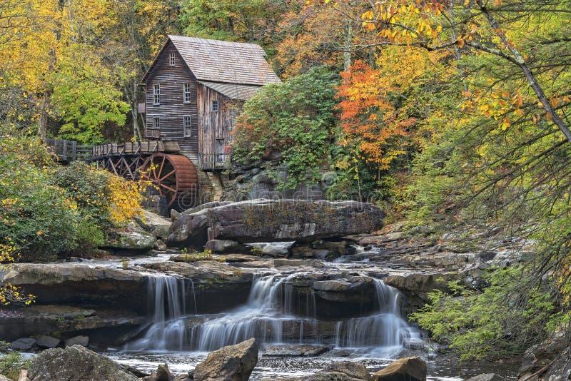 De Molen van het de Kreekmaalkoren van de Open plek in West-Virginia royalty-vrije stock afbeelding