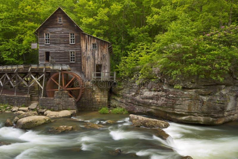 De Molen van het de Kreekmaalkoren van de open plek in West-Virginia, de V.S. royalty-vrije stock foto